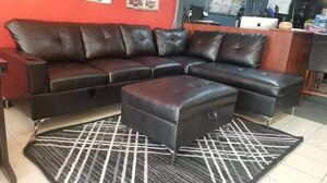 Sectional with storage ottoman for Sale in Dallas, TX
