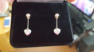 Earrings 14 karat yellow and white gold for Sale in Halethorpe, MD