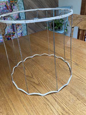 Vintage round metal drum lampshade frame for Sale in Martinsburg, WV