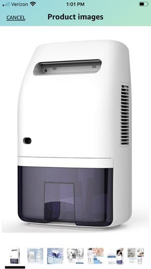 Afloia Portable Electric Dehumidifier for Home 2000ML Water Tank, Home Dehumidifier for Bathroom Dehumidifier for Basement Space Bedroom Kitchen Cara for Sale in Redlands, CA