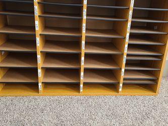 Wood Adjustable-Compartment Literature Organizer for Sale in Nashville,  TN