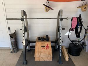 Golds gym squat rack for Sale in Purvis, MS