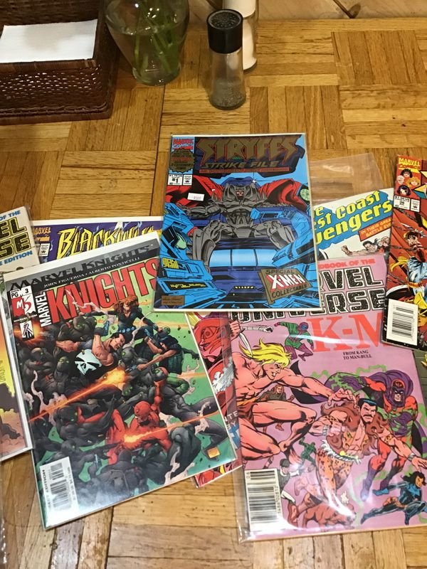 Marvel comic books long box all marvel bagged / boarded around 300 books excellent condition