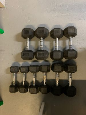 Dumbbells WEIGHTS for sale -30, 25,20,15,10 sets of each for Sale in Los Angeles, CA