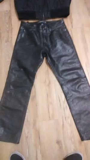 Gap boot fit leather pants 31 waist 30 length for Sale in Denver, CO