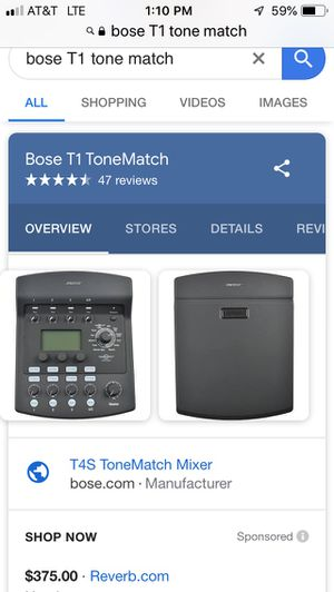 Bose T1 Tone Match Mixer for Sale in Nashville, TN