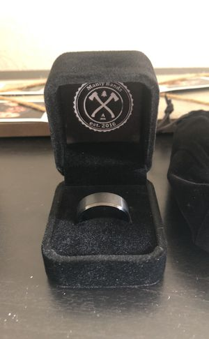 Manly Bands Black Tungsten Wedding Ring for Sale in Scottsdale, AZ