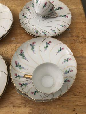 Antique tea set China 24k gold leaf for Sale in Whittier, CA