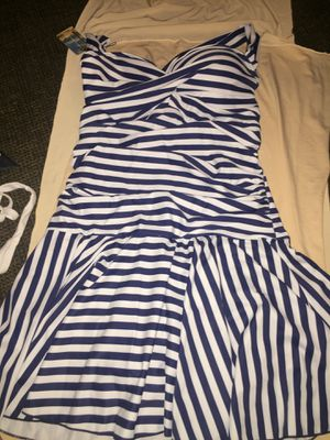 Navy blue and white swimsuit dress (M) for Sale in Avondale, AZ