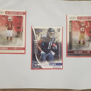 Lot Of 3 Absolute Football Cards for Sale in DeFuniak Springs, FL