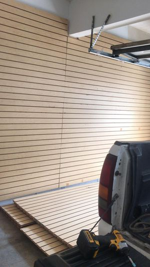 Slat wall panels 8x4' store wall display for Sale in Baldwin Park, CA