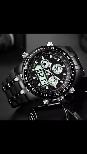 Men Watches Big Face Sports Watch for Men, Military Wrist Digital Watches in Black Silicone Band for Sale in Columbus, OH