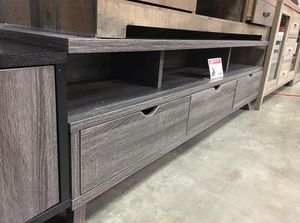 Olivia TV Stand for TVs up to 70 inch, Distressed Grey, SKU #151280DGY for Sale in Santa Fe Springs, CA