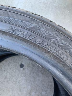 225/45/18 Yokohama (2 Tires)$80.00/ Both for Sale in Mission Viejo, CA