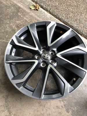 1 wheel with 3 minor scratches - not a set for 2020 Toyota Corolla - OEM wheel 18x8 5x100 - OEM part # 42611-12D60 for Sale in Sammamish, WA