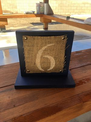 Wood Table numbers for wedding or party for Sale in Irwindale, CA