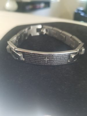 STAINLESS RELIGIOUS BRACELET 8 INCH for Sale in Tracy, CA