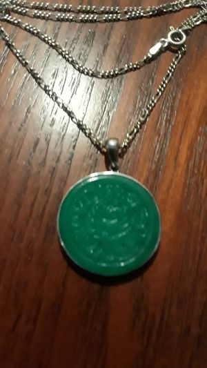 Gorgeous Sterling Silver 925 Jade pendant with necklace. for Sale in New York, NY