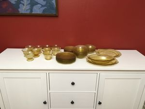Patrician federal depression glass amber for Sale in Seattle, WA