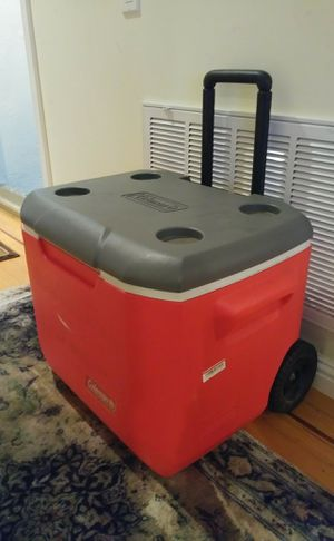 Coleman wheel cooler about 55qt for Sale in San Francisco, CA