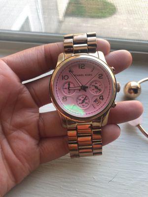 MK rose gold watch & bracelet set for Sale in Houston, TX
