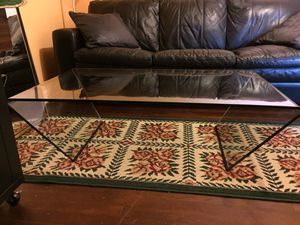 Rubino solid glass coffee table for Sale in Houston, TX