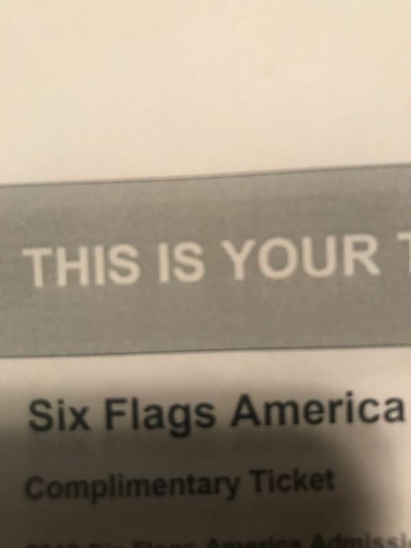 4 tix to six flags fright fest tomorrow $50