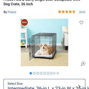 """Free 36x23x25"""" kennel and pillow for Sale in Oakland, CA"""
