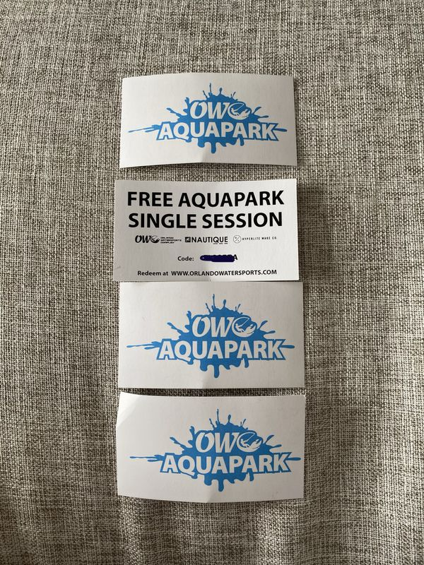 4 Aquapark tickets
