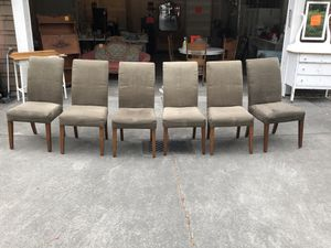 6 dark green suede parsons chairs. Great condition for Sale in Shoreline, WA