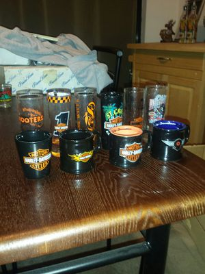 10 Harley Davidson shot glasses for Sale in New Haven, CT