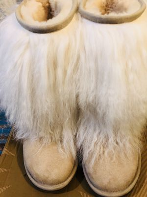 Uggs sheepskin cuff boot sand size 6 for Sale for sale  Tampa, FL
