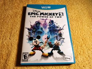 EPIC MICKEY 2 POWER OF TWO WII-U GAME for Sale in Missouri City, TX