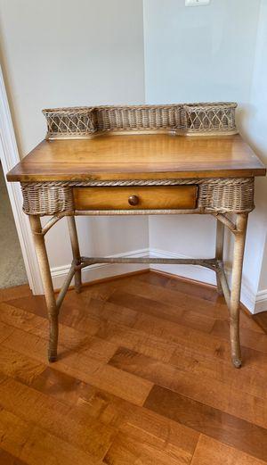 Antique wicker writing desk for Sale in Gettysburg, PA