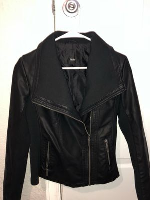 Black faux leather jacket (small) for Sale in Denver, CO