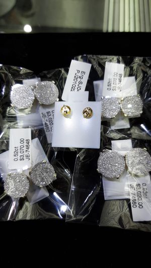 14k gold diamond earrings big size today special $800 each for Sale in Los Angeles, CA