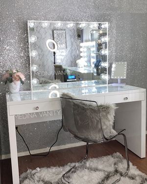 Makeup vanity mirror makeup mirror with lights fenty beauty urban decay nars morphe kat von d Bobbi brown anastasia Beverly Hills makeup vanity table for Sale in Rancho Cucamonga, CA