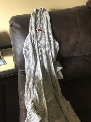 Women's Long Open Cardigan Gray for Sale in West Chicago, IL