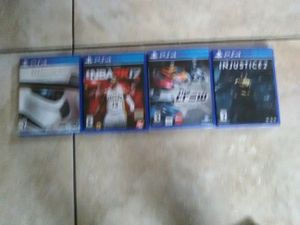 PS4 games battlefront deluxe edition NBA2k17 the crew Injustice2 for Sale in Las Vegas, NV