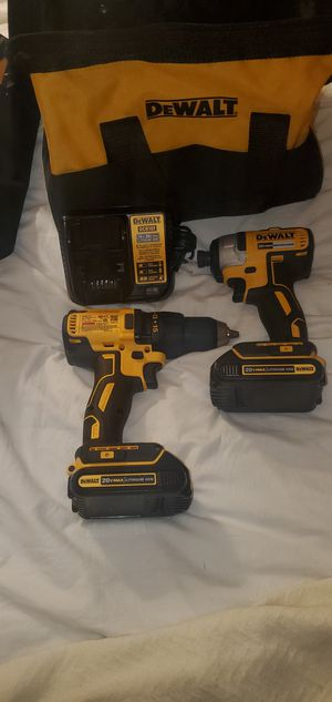 DEWALT 20-Volt MAX Lithium-Ion Brushless Cordless Compact Drill/Impact Combo Kit (2-Tool) 2 Batteries 1.3Ah and Charger for Sale in Phoenix, AZ