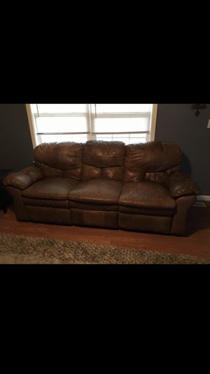 Brown leather sofa recliner for Sale in Union, MO