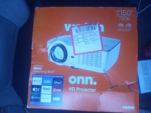 Onn HD projector with Roku streaming stick for Sale in Elkton, MD