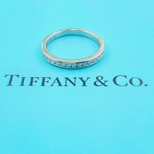 U3875 TIFFANY DIAMOND WEDDING BAND ENGAGEMENT RING PLAT LADIES for Sale in Palm Springs, CA