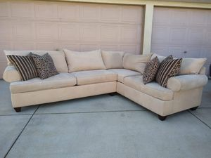 Bauhaus Sectional Sofa Couch L Shaped Sala Microfiber Stain Resistant for Sale in Modesto, CA