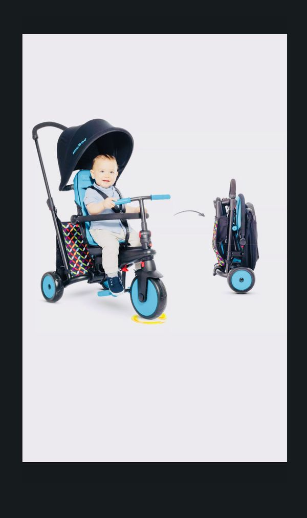 NEW! FOLDING TRICYCLE SMARTRIKE 6 in 1 300 COMFORT BABY INFANT STROLLER UMBRELLA CANOPY KIDS CHILDS BIKE BICYCLE SMART TRIKE