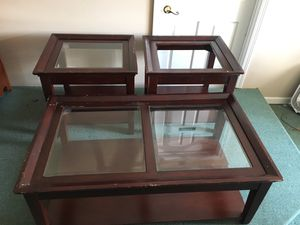 Coffee table and two end tables for Sale in Columbia, TN