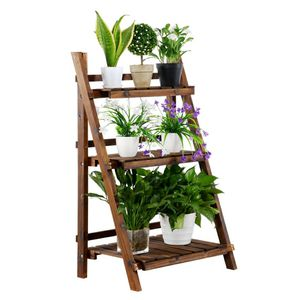 3 Level Folding Wooden Plant Stand Indoor Outdoor Garden for Sale in ROWLAND HGHTS, CA