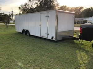24 foot enclosed car hauler trailer for Sale in NEW PRT RCHY, FL