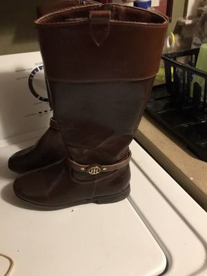 Girls size one Tommy Hilfiger boots for Sale in Greensboro, NC