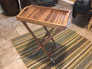 TeK wood tray - outdoor furniture - patio - wicker - garden - pool for Sale in Windermere, FL